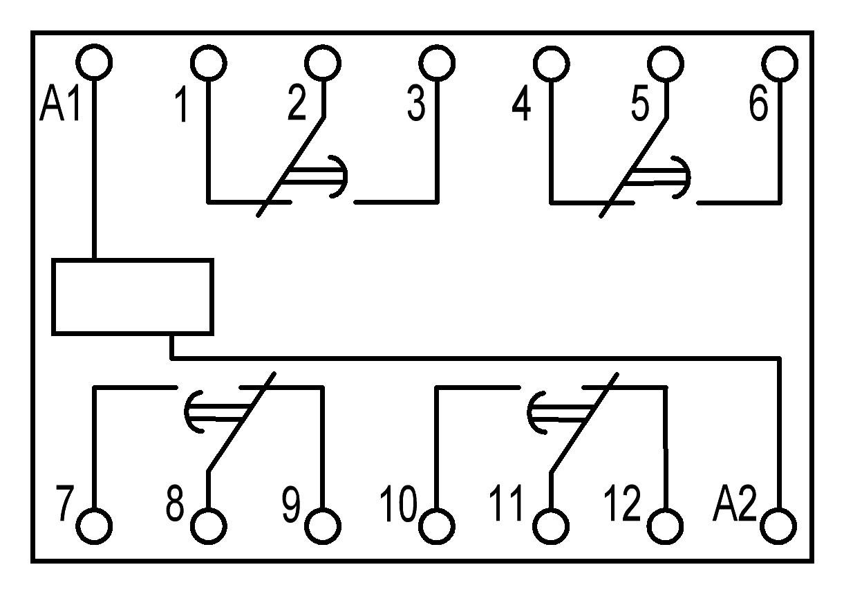ПЭ45А - схема подключения