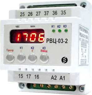 RVC-03-2 - time relay with  week / daily cycle