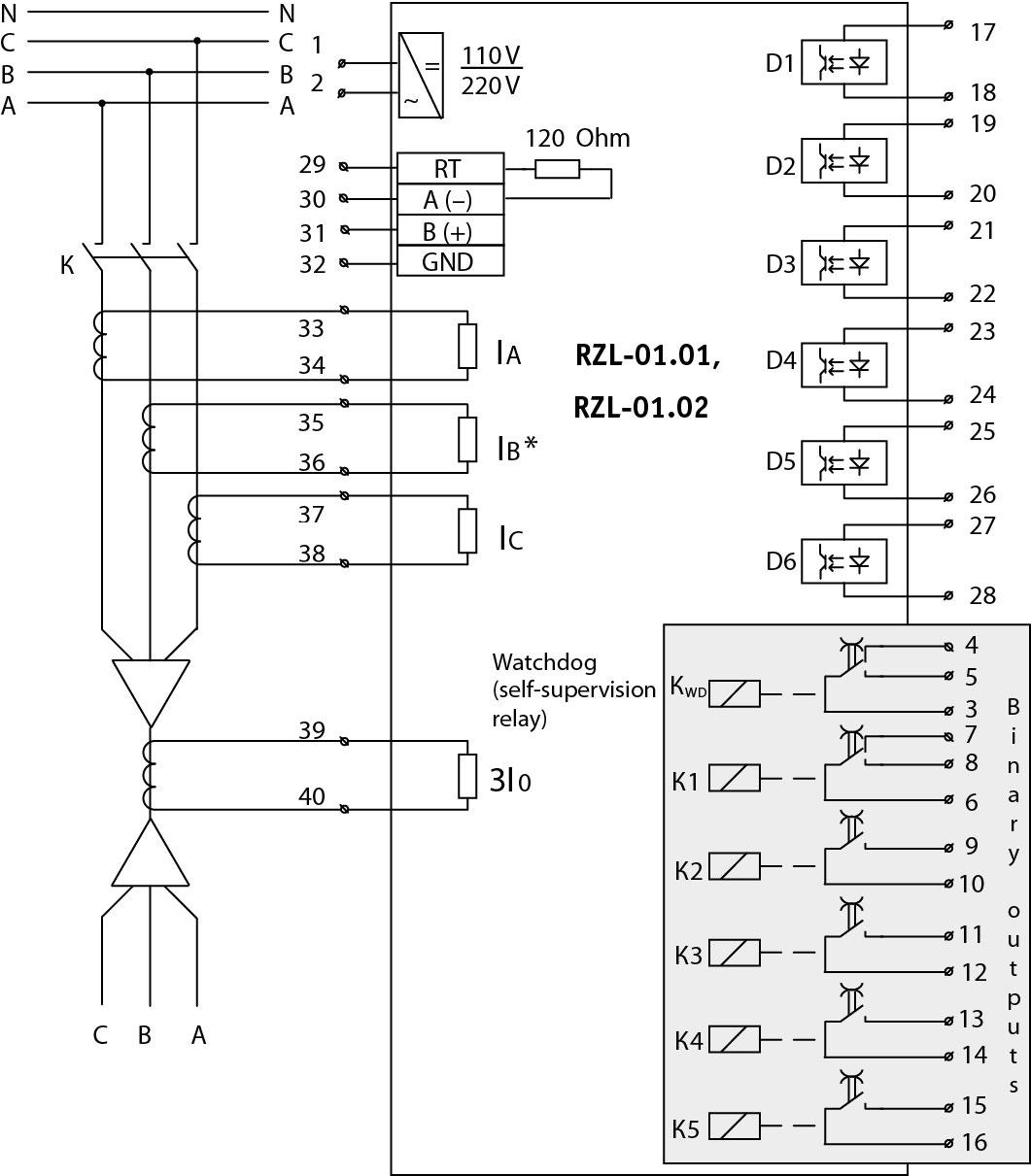 RZL-01.01, RZL-01.02 - wiring