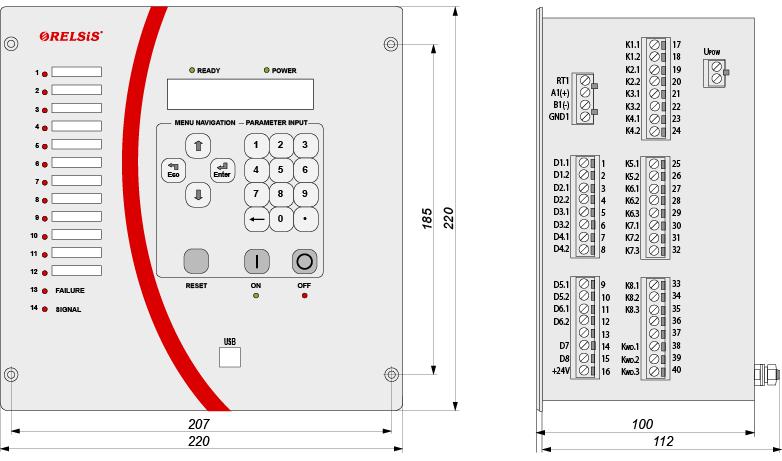 RZL-05_M - dimensions